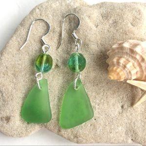 Handmade Sea Glass / Beach Glass Earrings